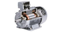 Premium efficiency motors used in rotary screw vacuum pumps